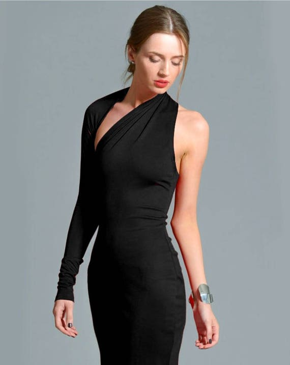 Little Black Dress / One Shoulder Dress / Black Dress / Prom