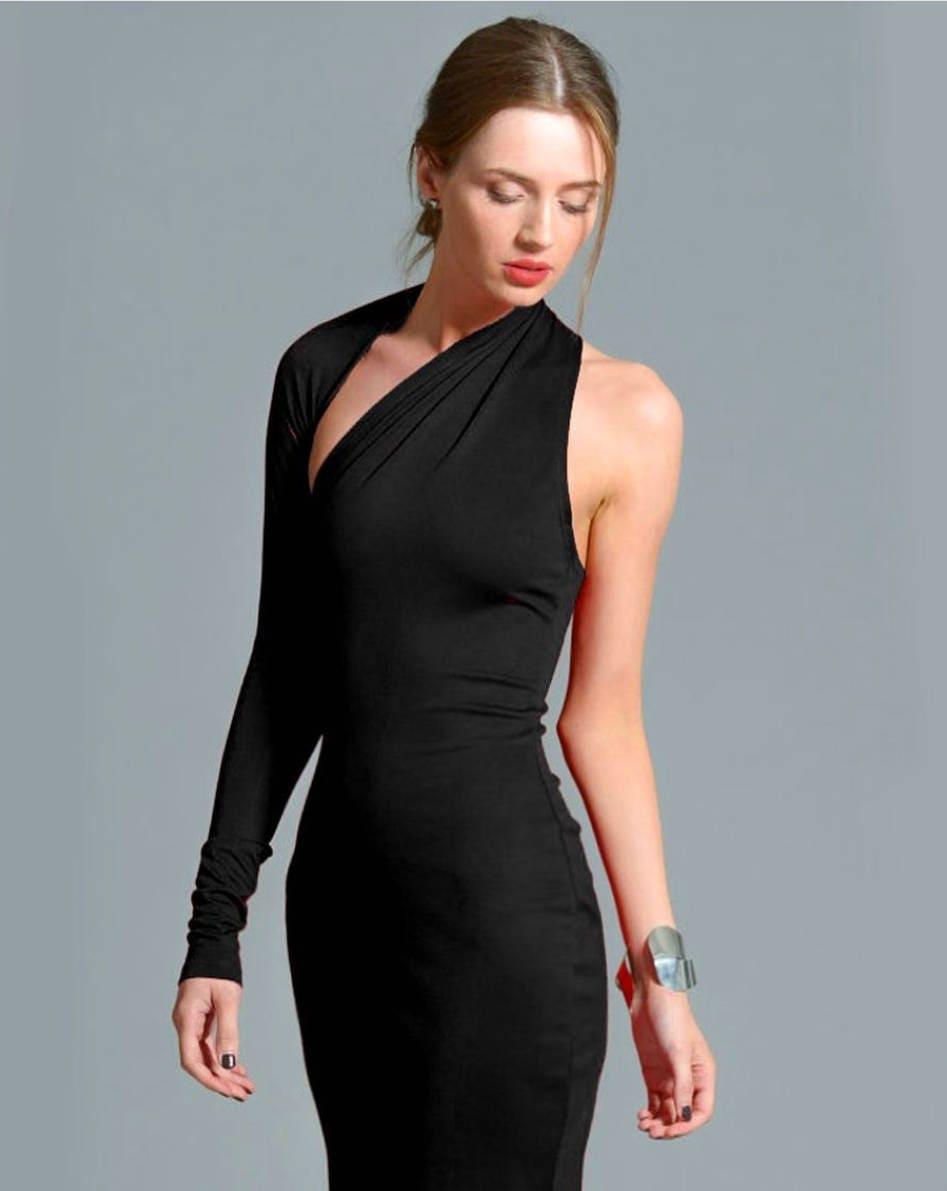 Little Black Dress / One Shoulder Dress / Black Dress / Prom