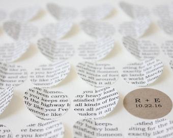wedding song lyric art, Unique wedding gift, framed song lyrics, 1st anniversary gift, 3d framed hearts, wedding vow art, first dance song