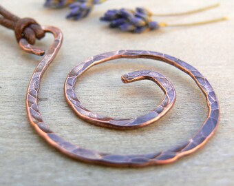 Celtic Copper Spiral Pendant, 7th Anniversary Gift, Copper Jewellery, Celtic Necklace, Copper Cetic Necklace, Copper Anniversary