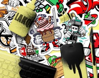 250 Promotional Stickers | Marketing Stickers, Full Color Stickers, Skateboard Stickers, Outdoor Stickers, Sticker Bomb, Custom Stickers