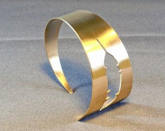 Bronze Feather Cuff Bracelet - BR009