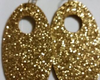 Glitter Gold Pierce Earrings