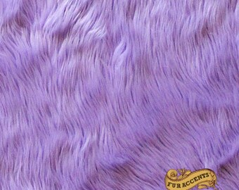Faux Fur Fabric Yardage Remnant Piece / Purple Pink Grape Lavender Orchid  Shaggy Faux Fur / All new sizes and colors