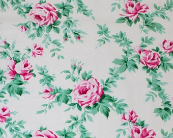 "LAMINATED Cotton  - Rose Vine, 56"" Wide, BPA & PVC Free"