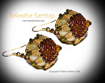 Bead Pattern - Salomina Earrings