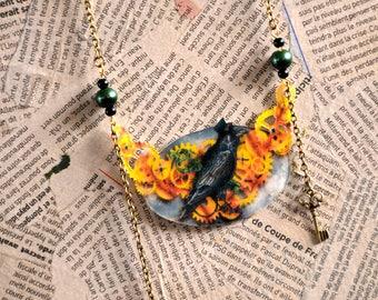 Sir Raven key Steampunk necklace