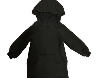 Black long hoodie quilted. Babies toddlers and kids