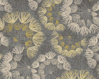 Whisper Graphite cotton fabric by the yard Magnolia Home Fashions