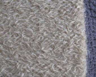 "18"" x 27""- Medium Density Mohair with Curly Matte Finish - 3/4"" pile VINTAGE TAN color cheswickcompany"