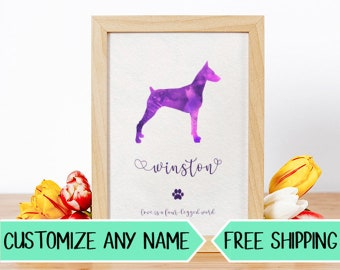 P16 Custom Dog Silhouette Personalized Pet Art