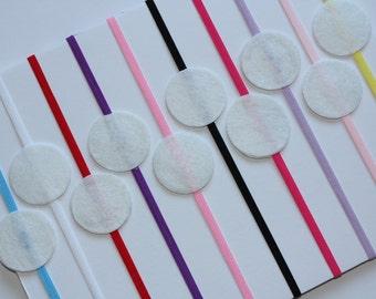 Wholesale 10x Skinny Elastic Stretchy Felt Pad Baby Headband Girl Hairband DIY Headband Free Postage