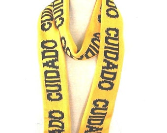 Spanish Caution Tape Scarf - CUIDADO