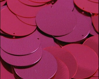 Metallic Shocking Pink Disc Sequins 24mm - JR02863