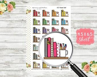 Planner Shelf Stickers - Planner Icon - Notebook Icon - Planning Reminder Stickers - Happy Planner Erin Condren Travelers Notebook - H221