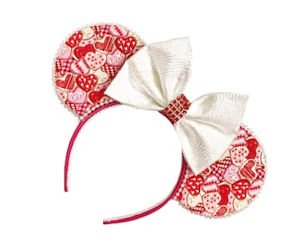 Valentine's Day Mouse Ears | Galentine's Day Mouse Ears | Heart Mouse Ears | Mouse Ears Headband | Mouse Ears
