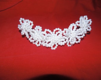 Cathy's wedding hair piece done in Pearls
