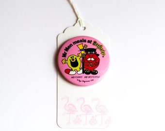 Vintage Mr Funny and Mr Beefeater 1985 badge