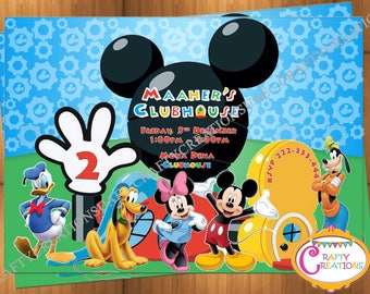 Mickey mouse Invitation Mickey Mouse Clubhouse invite Mickey