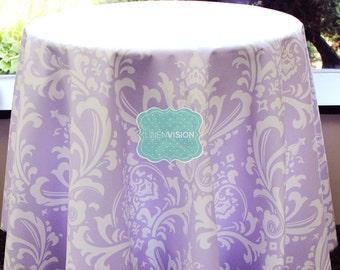 Tablecloth - Premier Prints - OZBORNE Damask  - Wisteria - Choose Your Size - Table Linen Wedding Home Decor Dining Kitchen