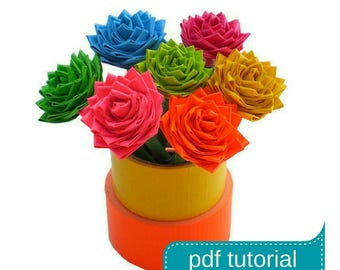 DIY Duct Tape Flower Tutorial PDF