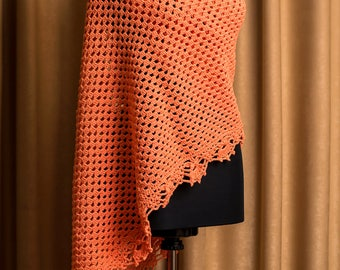 Triangle Crochet Shawl, Lace Crochet Shawl, Fall Color Scarf, Handmade Shawl, Trianglе Shawl, Crochet Stole, Wrap Shawl, Women Accessory