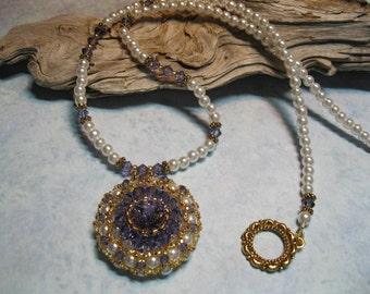 Crystal Dahlia Necklace