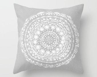 Grey Throw Pillow light grey pillow gray throw pillow