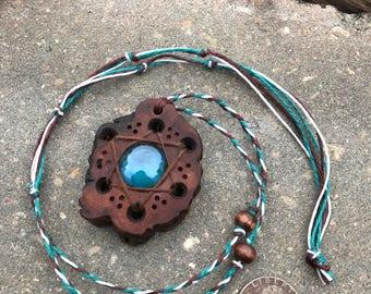 Hexagram Looking Glass Pendant