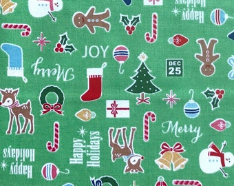Christmas fabric, Cute Christmas fabric from Riley Blake, 100% cotton fabric for Quilting and general sewing projects.