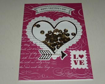 Happy Valentine's Day Shaker Card