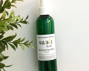 Morning Face Mist Green Tea Facial Toner Facial Mist Vegan Face Mist Facial Spray Organic Vegan Natural Skincare Face Spray