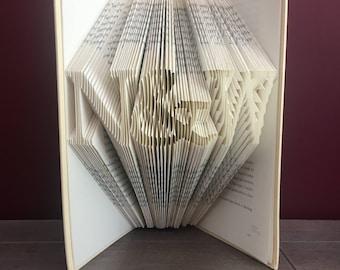 Custom Initials Folded Book