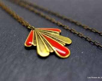 Art deco Mina, pendant, necklace pendant