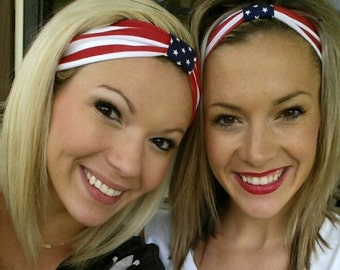 American Flag Turban; Patriotic Turban