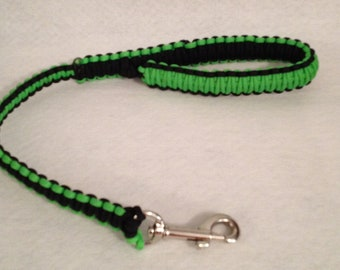 2, 4 or 6-ft Paracord Leash - Lime and Black