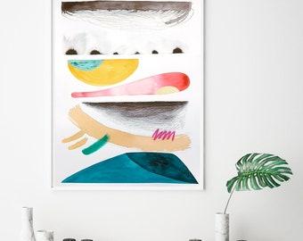 Minimalist colorful art, original painting, abstract watercolor art, minimalist watercolor, large watewrcolor, original watercolor