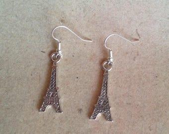 Eiffel tower earrings silver