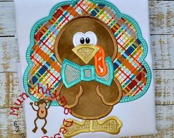 Boy Turkey Applique