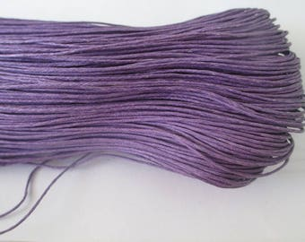 5 meters of waxed cotton thread purple 0.7 mm