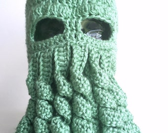 Cthulhu hat, Lovecraft, handmade crochet || Child, Adult, XL Adult || Ready to Ship