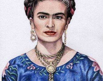 Hommage to Frida Kahlo - Fine Art Print 30 x 40 cm