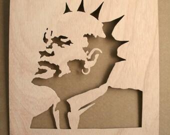 Banksy Punk Lenin Stencil