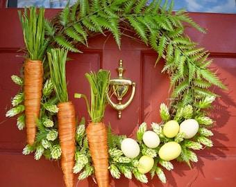 Carrot & Easter Egg Wreath