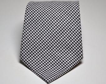 Chocolate Brown Necktie - Houndstooth Tie for Boys or Men