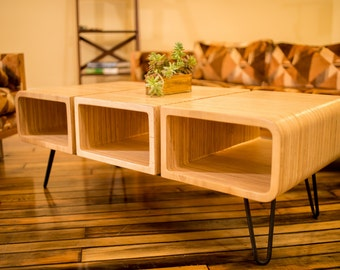 Three Piece Coffee Table. Center Table. Plywood Furniture. Modern Center Table. Modern Coffee Table.