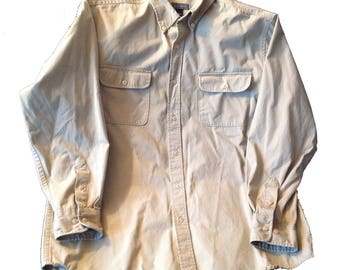 Large Saddlebred Khaki Shirt Long Sleeve