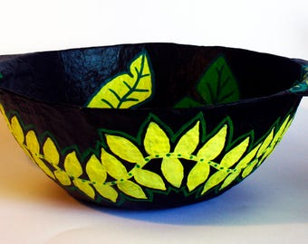 Leaf Painted Fruit Bowl