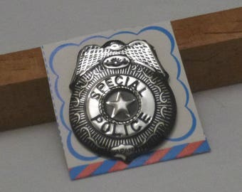Vintage Special Police Tin Toy Pin Back Badge, 1960s