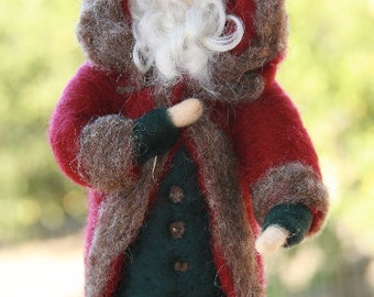 Needle Felted Santa Claus/Waldorf Santa/Needle Felted Christmas Decor/Felt Santa/Father Christmas/Gifts for Kids/Felt Doll/Holiday Decor